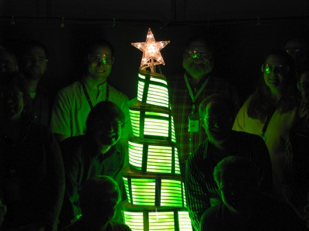 oled christmas tree - le sapin de noël lumineux du futur