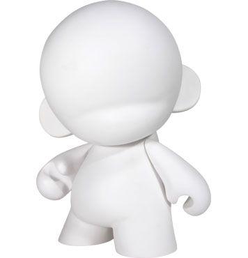 art toy géant blanc à personnaliser Mega Munny