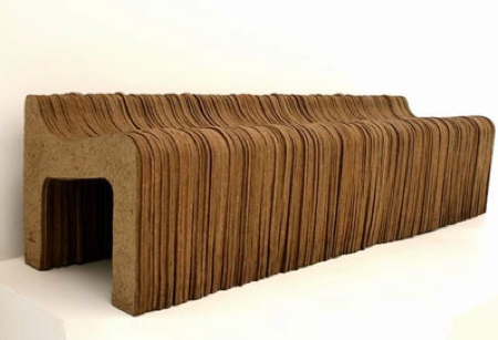 banc en papier kraft recyclé Gardeco