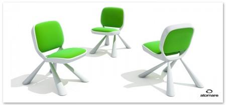 chaise enfant design verte Voo Atomare