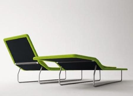 chaise longue slim tressée surf