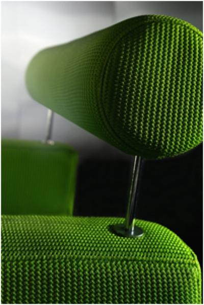 fauteuil chic novalinea en tissu vert