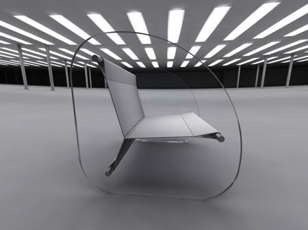 fauteuil en verre design Wipeout Stéphane Perruchon