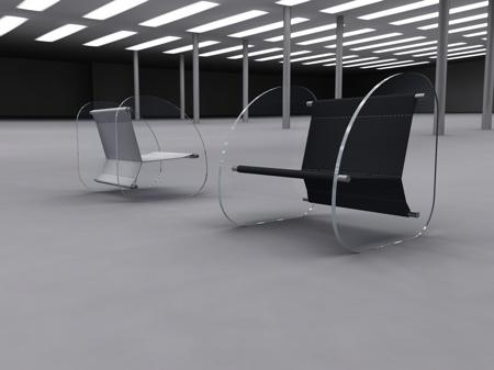 fauteuil plexiglas design Wipeout Stéphane Perruchon