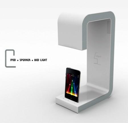 ipod speaker bed light - lampe de chevet et dock ipod design =