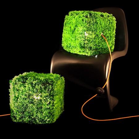 lampe cube herbe GrassOn ITlab design