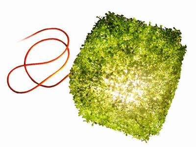 lampe grasson cube allumée ITlab design
