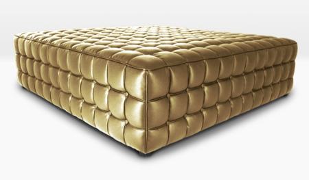 pouf capitonné gold Barcelona