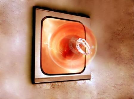 sphere hologramme 3D avec une bague