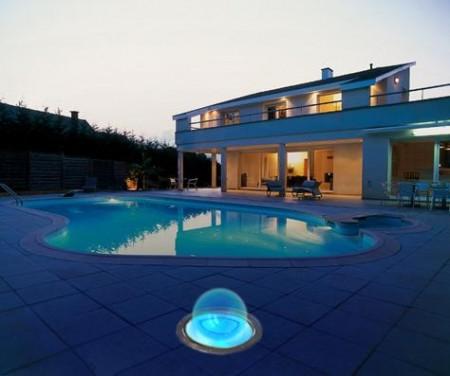 sphere hlographique bleue