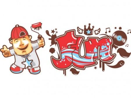 sticker graffiti dessiné par Valérie Damidot pour Vertbaudet