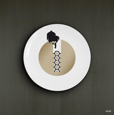 Assiette design avec un animal