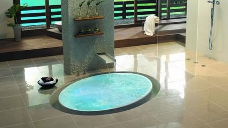 Baignoire ovale encastrée