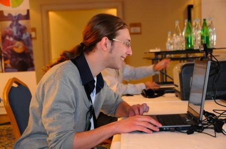 Blogueur au travail