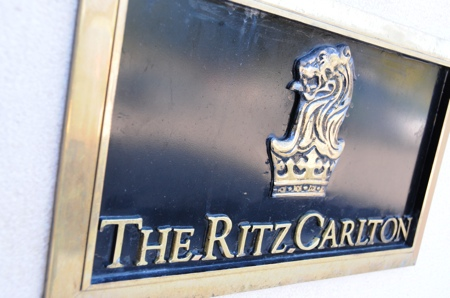 Plaque Ritz Carlton de l\'hotel Penha Longa au Portugal