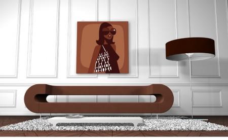 tableau Qora & Shai marron