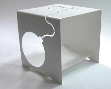 TNTable, la table basse bombe blanche