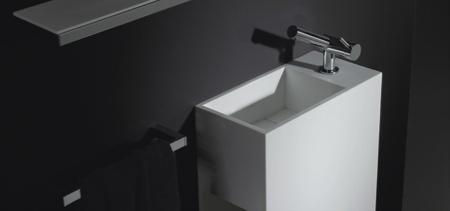 Meuble de salle de bain en corian pas cher Cosmic