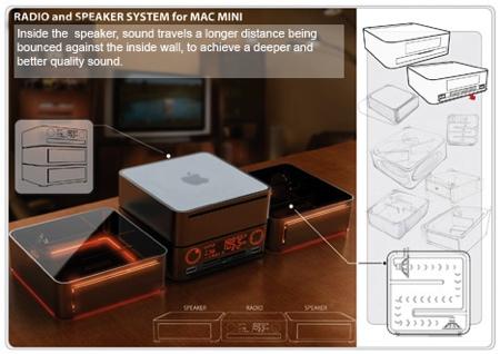 Radio et hauts parleurs pour Macmini