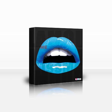 Tableau bouche bleu
