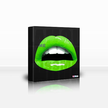 Tableau d'une bouche verte