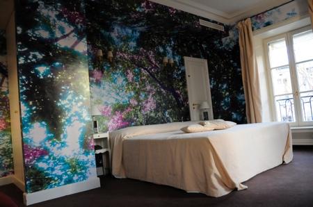 Chambre avec papier-peint photo