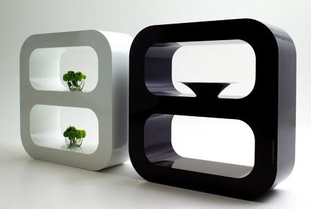 étagère arrondie design Signalement
