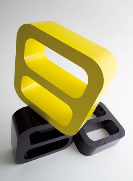 Etagère jaune et noire Signalement