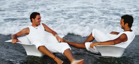 Chaise de plage design