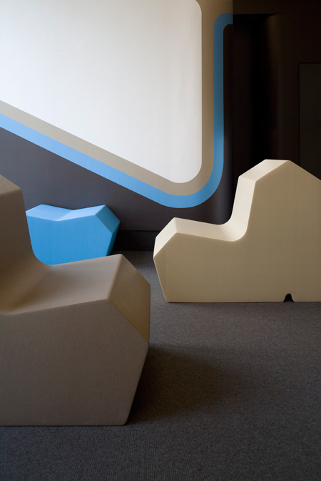 Fauteuil design sculpté