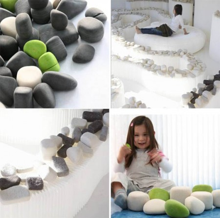 Felt rocks par Molo design