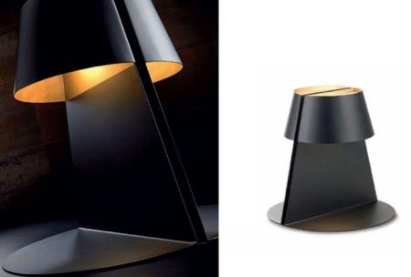 Lampe Madame noir et or