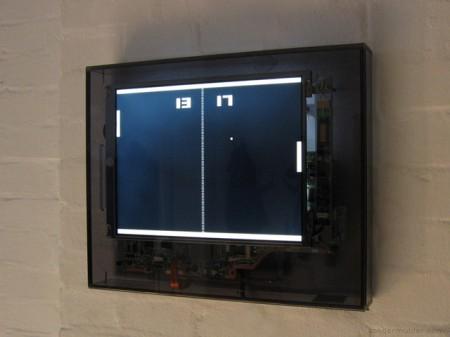 Pong clock Sander Mulder