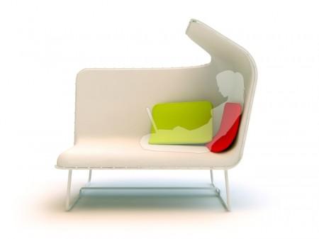 Sofa blanc design