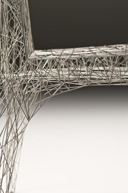 Zoom sur la chaise fil de fer Webchair