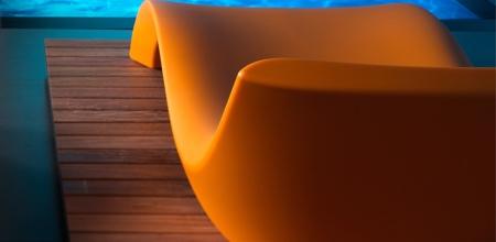 Bain de soleil design orange