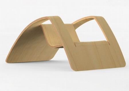 Fauteuil de jardin en bois design