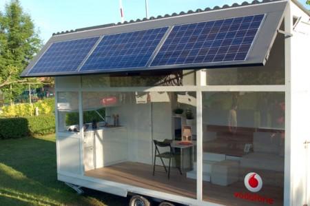 Mobile home avec des panneaux solaire