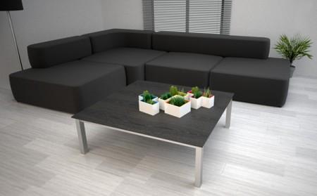 Pot de fleurs design Tetris
