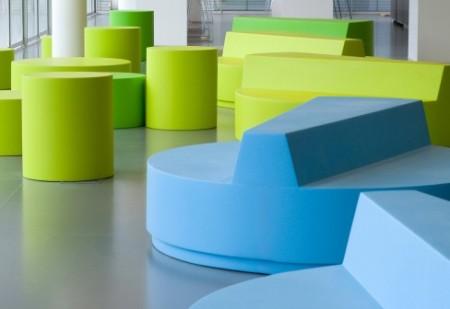 Pouf design Quinze & Milan round