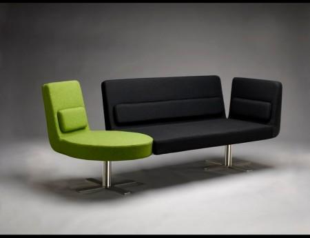 Canapé avec fauteuil intégré Amadeo