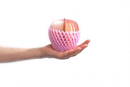 Pomme memo dans une main