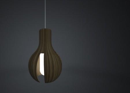 Suspension en bois design Bulb