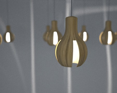 Suspension en bois design woodbulb for Suspension bois luminaire