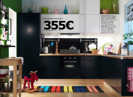 cuisine noire ikea 2010. Black Bedroom Furniture Sets. Home Design Ideas