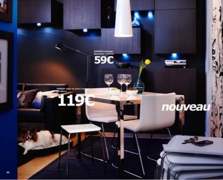 Studio noir et bleu Ikea 2010