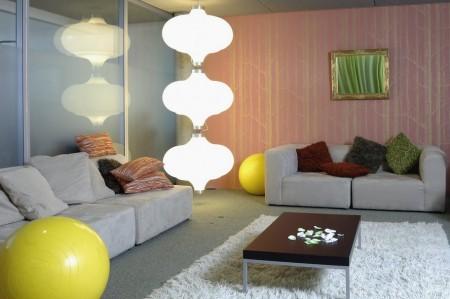 Bureaux Google à Zurich, espace lounge