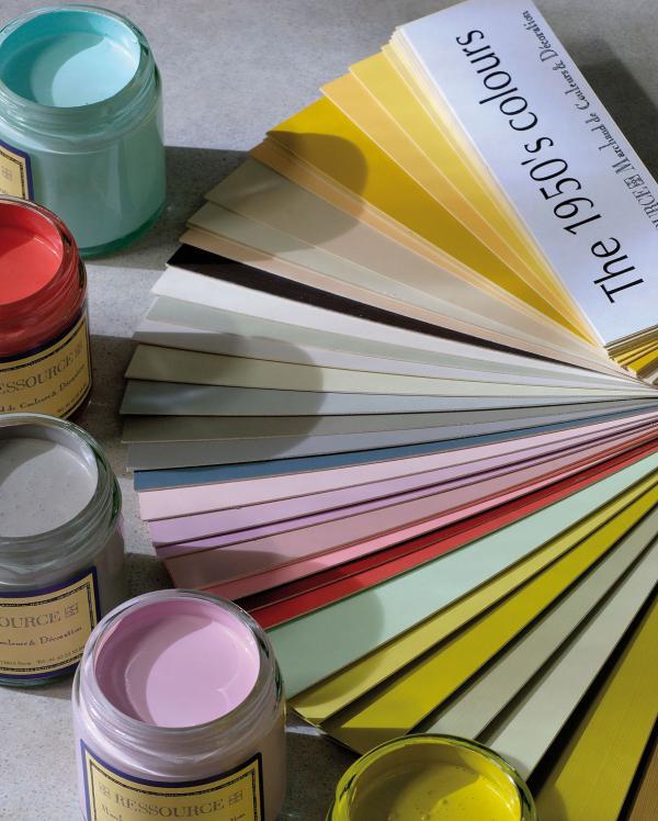 palette de couleurs ann es 50 peinture ressource. Black Bedroom Furniture Sets. Home Design Ideas