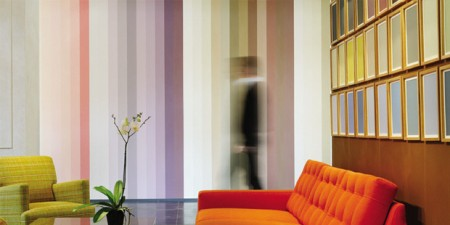 Peinture Ressources 1950's colours dans un intérieur design