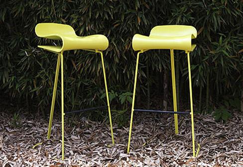 tabouret de bar design jaune